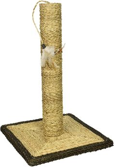 Natural Sisal Cat Scratching Post with Feather Toy by Weebo Pets >>> Check out this great product. (This is an affiliate link and I receive a commission for the sales) Cat Scratching Post, Cat Tree, Cat Furniture, Sisal, I Love Cats, Pet Supplies, Kittens, Feather, Cat Beds