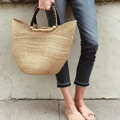 Our friend Samantha is currently coveting our Bohemian Market Basket in a natural color.