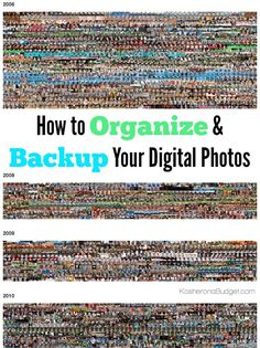Are you overwhelmed by your digital photos? Worried you'll lose them? Or never be able to get them organized? It's easy to upload them, organize and back them up with these simple steps. Tips for making an annual family photobook included as well.