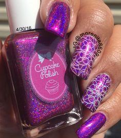 Gorgeous color by Cupcake polish      #nails #nailart #holographicnails