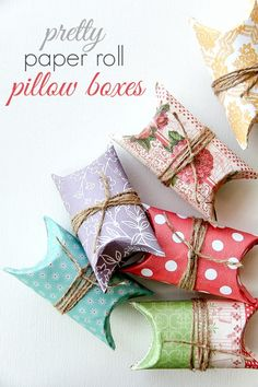 DIY: paper roll pillow boxes