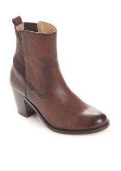 Frye Dark Brown Janice Gore Short Boot