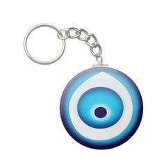 Protected by Evil Eye Key Chain