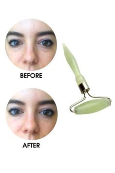 Under-Eye Treatments That Really Work From Preparation H to black tea. Jade Face Roller, Beauty Products That Work, Jade Rolling, Under Eye Puffiness, Under Eye Bags, Face Massage, Blush Makeup, Homemade Beauty, Beauty Skin