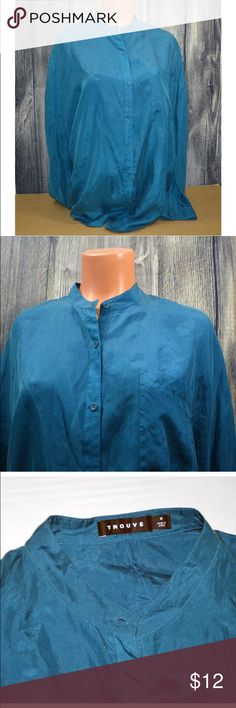 "TROUVE LUE BUTTON DOWN LONG SLEEVE SILK BLOUSE ""TROUVE"" LUE BUTTON DOWN LONG SLEEVE CAREER SILK SHIRT BLOUSE  SIZE: M Shiny Good condition, please see photos for the exact item you will get. Thank you! Trouve Tops Button Down Shirts"