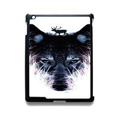 Deer On Wolf TATUM-3128 Apple Phonecase Cover For Ipad 2/3/4, Ipad Mini 2/3/4, Ipad Air, Ipad Air 2