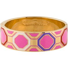 Pre-owned Kate Spade New York When In Rome Bangle (110 AUD) ❤ liked on Polyvore featuring jewelry, bracelets, pre owned jewelry, kate spade bangle, bangle jewelry, hinged bracelet and geometric jewelry