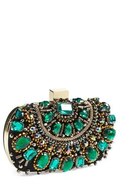 Speechless over this emerald clutch.
