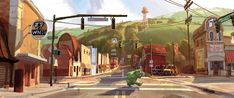 Desarrollo visual: El Arte de Onward ❤️ Diseño de Personajes y Concept Art Disney Pixar, Disney Wiki, Disney Parks, Anna Cattish, Otto Schmidt, Samurai Jack, Marvel 3, Studio Ghibli, Fantasy