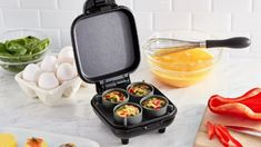 Prepare flavorful egg bites at home with the Dash Egg Bite Maker! Perfect for a healthy, protein-packed lifestyle, simply whisk eggs, add your toppings, and . Perfect Cheesecake Recipe, Mini Cheesecake Recipes, Cheesecake Bites, Waffle Recipes, Egg Recipes, Low Carb Recipes, Party Recipes, Healthy Recipes, Breakfast Sandwich Recipes