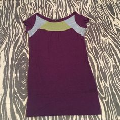 Purple/Gold/Silver top w Wide Waistband Sm Purple/Gold/Silver top w Wide Waistband Small. Perfect for LSU games :) Collective Clothing Tops Blouses