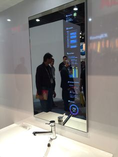 Smart mirror display...