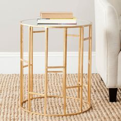 Safavieh Doreen Accent Table - Gold - End Tables at Hayneedle