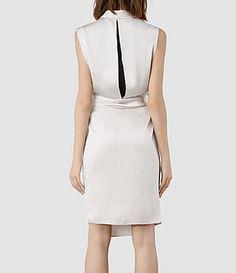 Womens Arina Dress (Oyster) - Allsaints