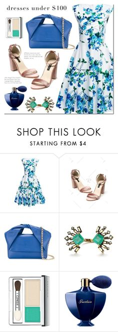 """Rosegal"" by mada-malureanu ❤ liked on Polyvore featuring J.W. Anderson, Clinique, Guerlain, dress, under100 and rosegal"