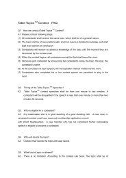 365 Table Topics Questions: Table Topics Questions, Contest Rules, How To Become, Knowledge, Facts