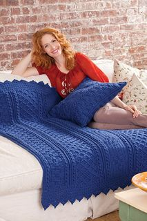 Basketweave Diamond Throw by Bonnie Barker This pattern is available for free.