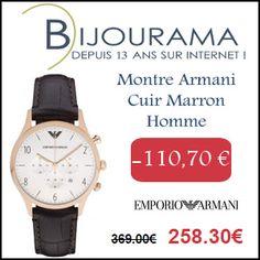 #missbonreduction; Economisez 110,70 € sur la Montre Armani Cuir Marron Homme chez Bijourama. http://www.miss-bon-reduction.fr//details-bon-reduction-Bijourama-i851979-c1830112.html