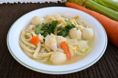 Chicken Seafood Noodle Soup