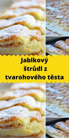 Jablkový štrůdl z tvarohového těsta Hamburger, French Toast, Bread, Breakfast, Food, Morning Coffee, Brot, Essen, Baking