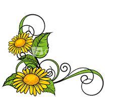 Image Result For Sunflower Corner Border