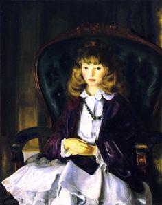 George Bellows, Anne in Purple Wrap on ArtStack #george-bellows #art