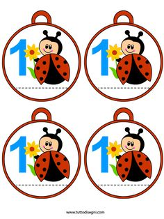 accoglienza-medaglie-primo-giorno-scuola-coccinella Baby Ladybug, Montessori Education, Class Decoration, Bottle Cap Images, Mug Rugs, Diy Paper, Preschool Activities, San Antonio, Decoupage