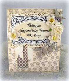 Blomsterbox: Wishing you happiness card