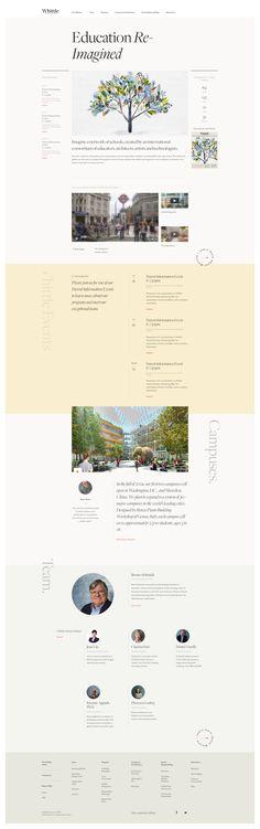 Whittle School web design