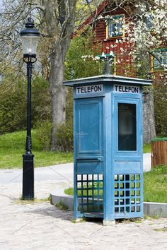 Antique phone booth by Stavrida on @creativemarket