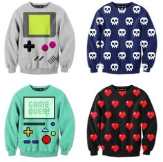 Whoever said that gamers have poor taste when it comes to fashion obviously haven't seen Drew Wise's video game-inspired collection of sweatshirts. They're colorful, they're snug, and they're comfortable, which.