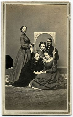 Intriguing group of friends. 1864, New York