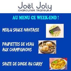 CHARCUTERIE JOLY : AU MENU CE WEEK-END !