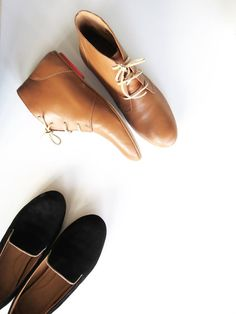 Leather Booties and Black Suede Loafers - shoes that give back. // #SsekoWishList #footwear #ssekostyle