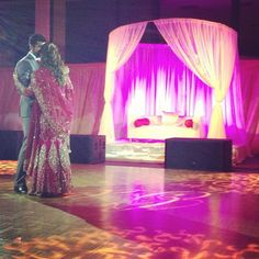First dance : This I Promise You by Nsync #sikhwedding #indiangroomwear #fuschia #bridallengha by msangha02