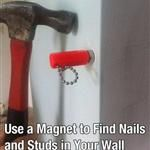 find studs in wall using magnet