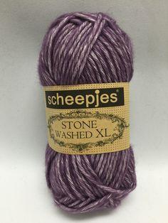 Sheepjes Stone Washed XL, Deep Amethyst, 851, Purple Yarn, yarn, Cotton Yarn by GoodFiberYarns on Etsy https://www.etsy.com/listing/262355358/sheepjes-stone-washed-xl-deep-amethyst