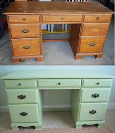 DIY project - this is literally the same desk i just found in Pittsburgh last week...awesome!!!