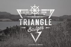 Triangle Badges Vol.1 by alfitranoor on @creativemarket