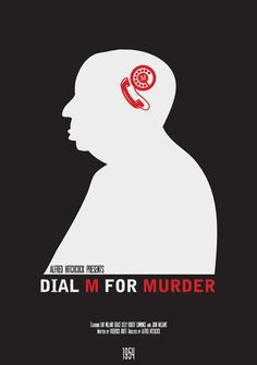 Cartel minimal peliculas Hitchcock: Dial M for murder