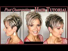 Short Choppy Hair, Short Grey Hair, Short Pixie Haircuts, Short Hair With Layers, Cute Hairstyles For Short Hair, Short Hair Cuts For Women, Curly Haircuts, Curly Short, Short Cuts