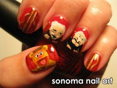 Fozzie Bear nails. Of course, he has to be heckled by Statler and Waldorf up in the balcony. Wokka wokka!
