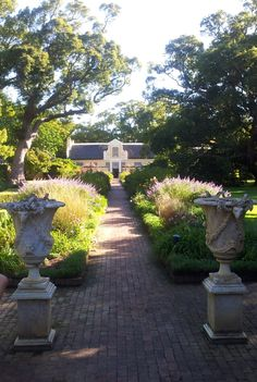Gardens at Vergelegen Wine Estate, Somerset West, near Capetown, South Africa.  The estate is said to have been one of Nelson Mandela's favorite wine estates.