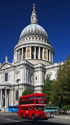 St. Paul's Cathedral in London, England.  I remember walking past this place and it looked quite magnificent despite the grey-ish London skies.