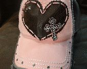 Blingirl by Linda Crawford by BlingirlSpirit on Etsy Country Fashion, Country Style, My Style, Trucker Hats, Snapback Hats, Christian Hats, Fashion Shoes, Fashion Accessories, Top Hats