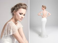 I love the conservative front and the daring back.. definitely a must for my wedding dress
