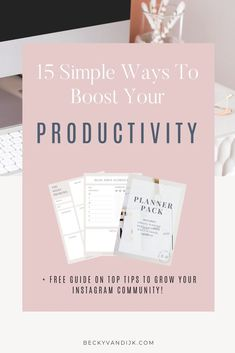 One of my favorite mantras is to focus on 'output not hours', though this is easier said than done. You might sit at your desk for several hours, but you may not actually accomplish much. On the other hand, you could spend an hour or 2 on high priority tasks and accomplish more for your business than 10 hours of busy work tasks! If you time how many hours you actually work in the day on high priority items you will probably be surprised. Here I share 15 great ways to boost your productivity!