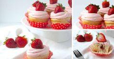 Strawberry Swirl Cupcakes with Fresh Strawberry Buttercream
