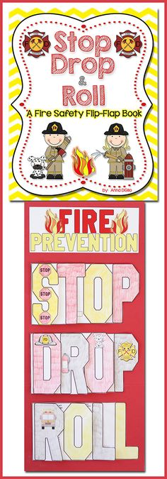 Fire Prevention FUN!!!  Have some FUN during Fire Prevention Week with these interactive Flip-Flap Books.  They look AWESOME as a bulletin board display!$