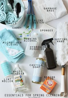 A well stocked spring cleaning tool kit is essential (and makes it more fun!).